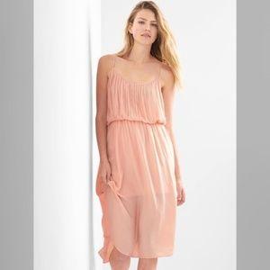 GAP Murmur Pink Drapey Pleated Dress